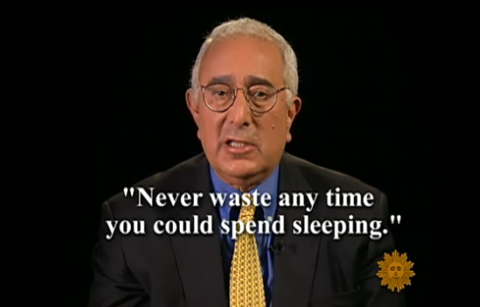 Ben Stein Sleeps In